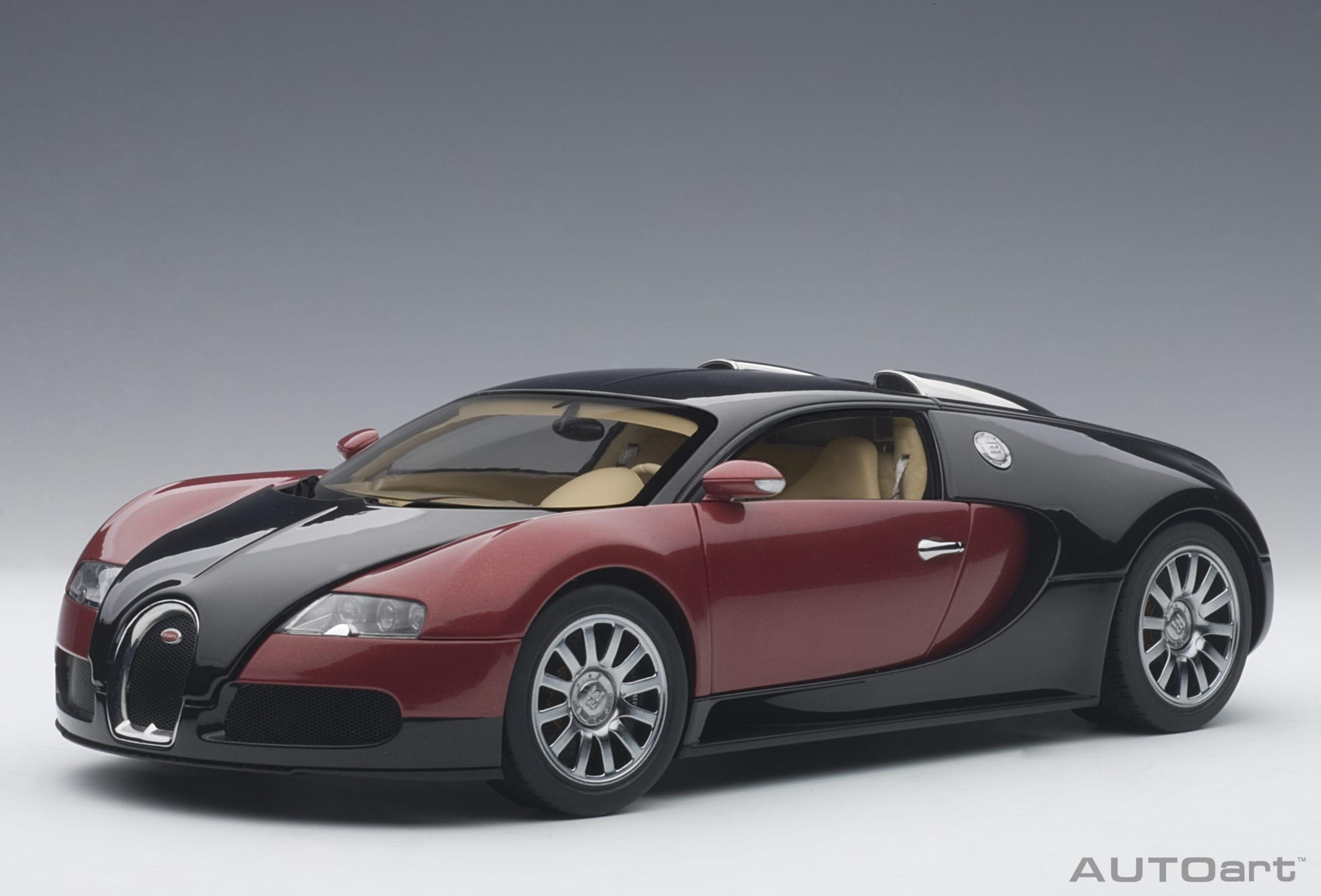 Bugatti Veyron Red Black 001 Autoart