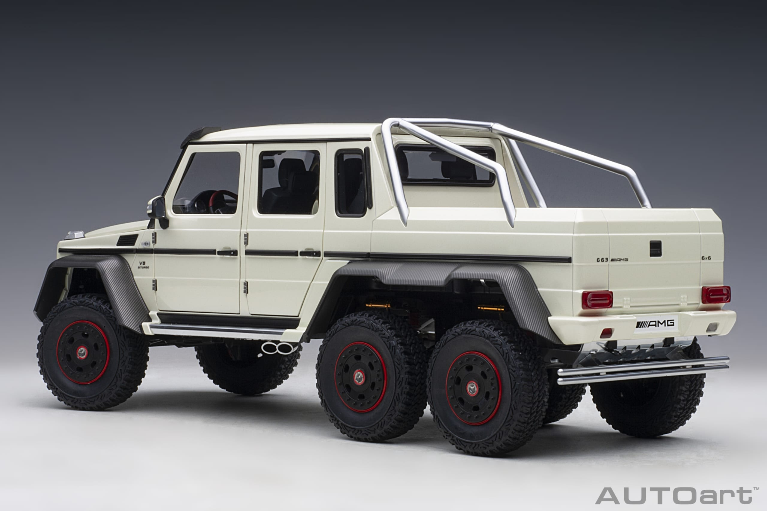 Mercedes Benz G63 Amg 6x6 Designo Diamond White Autoart