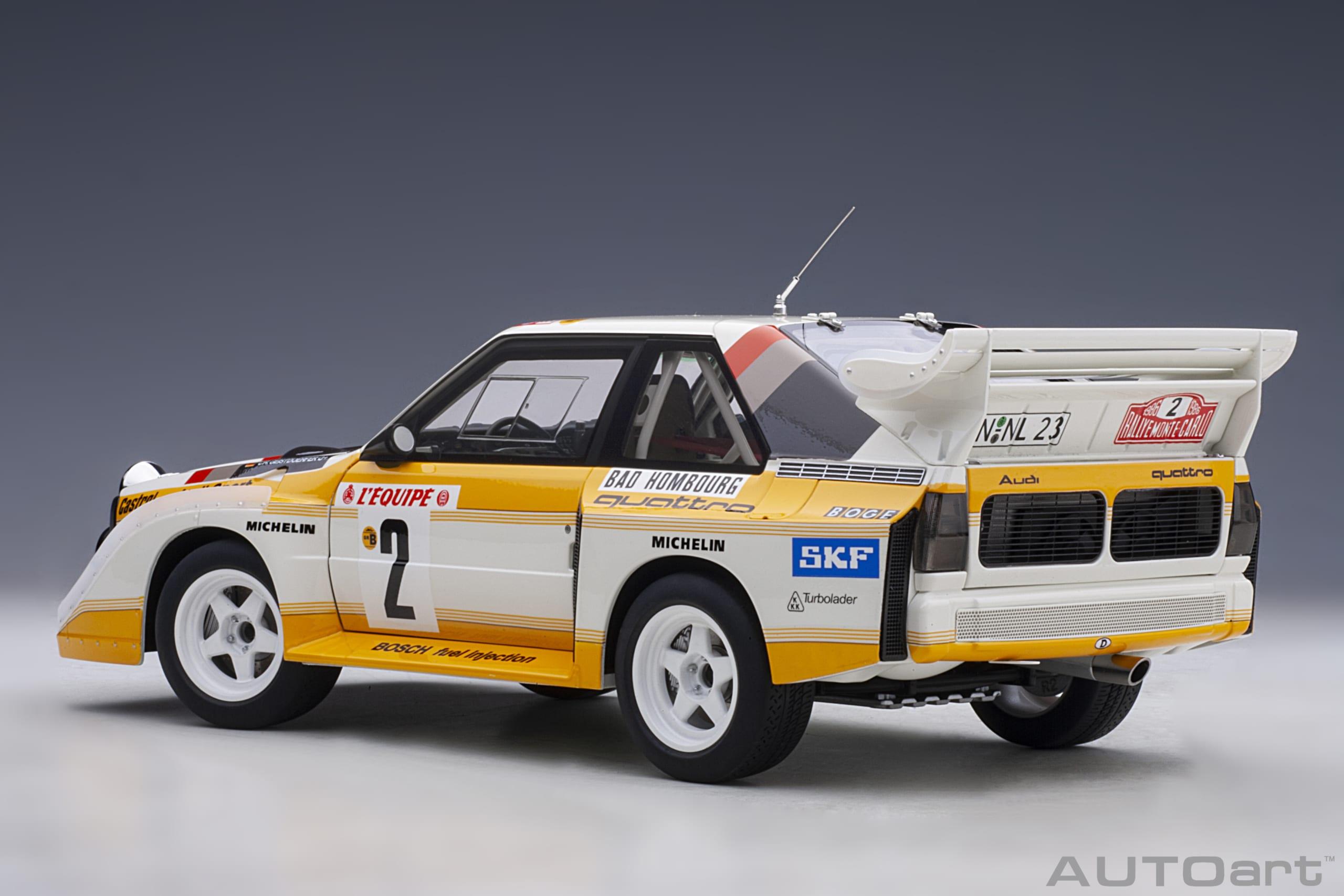 Audi Sport quattro S1 Rallye Monte Carlo 1986 #6 M Hertz Modellauto 1:18 Autoart